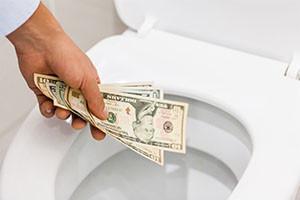 Cash Down the Drain